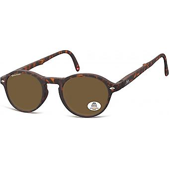 Sunglasses Unisex Foldable Panto Flamed Brown (MP66)