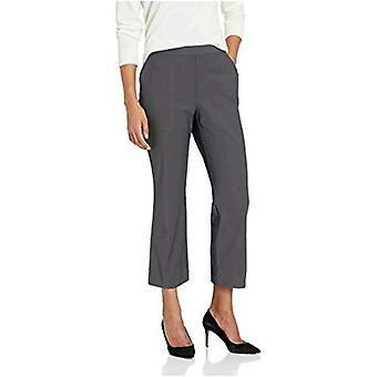 Lark & Ro Women's Stretch Crop Kick Flare Pant - Curvy, Carbon, 6
