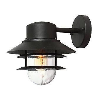 Elstead Copenhagen - 1 Light Outdoor Dome Wall Lantern Light Black IP44, E27