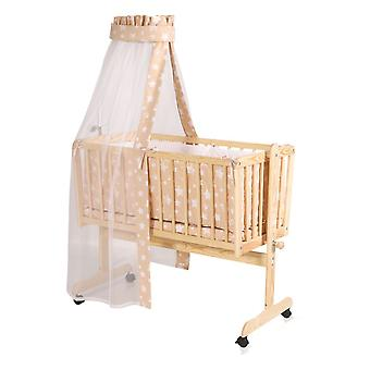 Lorelli Baby Cradle Baby Swing Eva Made Of Spruce Wood Light Easily Movable Wheels
