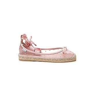 Red Valentino Tq0s0d88zahn17 Women's Pink Leather Espadrilles