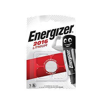 Energizer CR2016 Coin Lithium Battery Single ENGCR2016