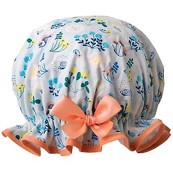 Dilly Daydream Meadow Blue Shower Cap
