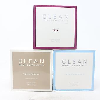 Clean Doftljus Collection , Hud, Färsk tvätt, Vitt Trä,Nytt Med Box