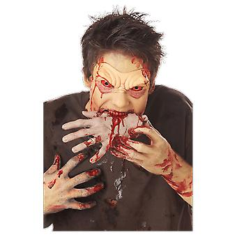 Adult Zombie Hand Wounds & Blood Halloween Fancy Dress Costume Party Accessory