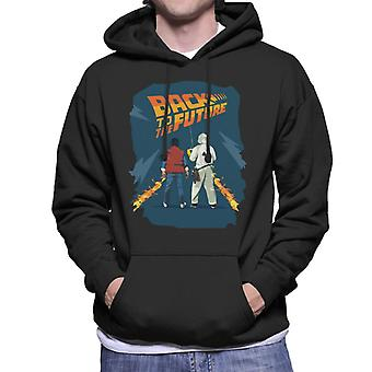 Back to the Future Marty And Doc Fire Trail Men's Hooded Sweatshirt