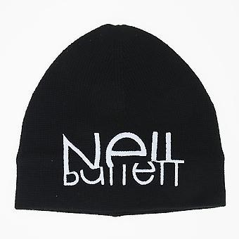Neil Barrett Sliced Logo Beanie Black Hat
