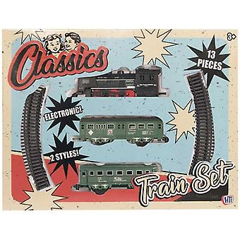 Classic Retro Battery Operated Train Set With Tracks Locomotive