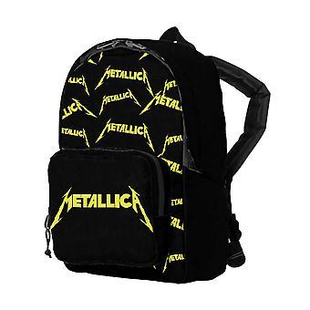 Metallica Kids Backpack Band Logo Allover print new Official Black