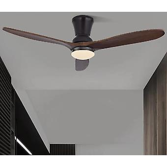 Ventilateur de plafond en bois led moderne nordique avec des lumières