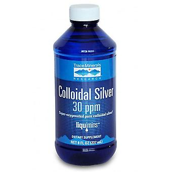 Trace Minerals Prata Coloidal 30 PPM, 4 Oz