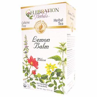 Celebration Herbals Organic Lemon Balm Herb Tea, 24 Bags