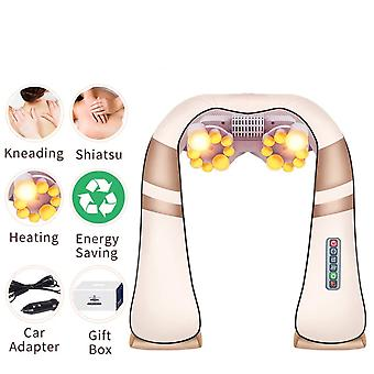 U Forma Elettrica 4d Impastare Shiatsu Gamba Posteriore Collo Spalla Massaggiatore - Body Infrared Heating Massager