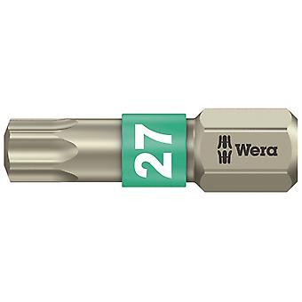 Wera 3867/1 TS Torx TX27 Vääntö ruostumaton teräs terä 25mm WER071036