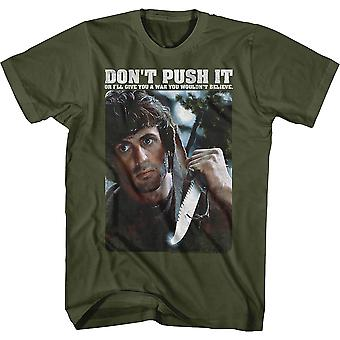 Don't Push It Rambo T-paita