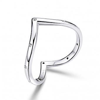 Sterling Silber Ring Herzform - 6864