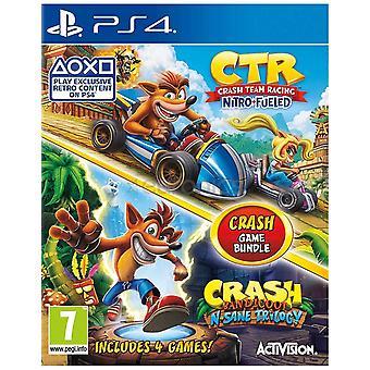 Crash Bandicoot N. Sane Trilógia & Crash Team Racing Nitro-Fueled Double Pack PS4
