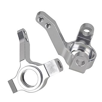 2x AX30496 1:10 Alloy Silver Upgrade Sets Steering Hub Carrier for AXIAL