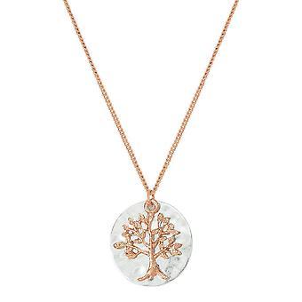 evig samling talisman tre av livet rose gull og sølv tone anheng halskjede