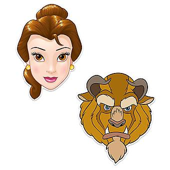 Beauty and The Beast Official Disney Child Size 2D Party Mask Variety 2 Pack