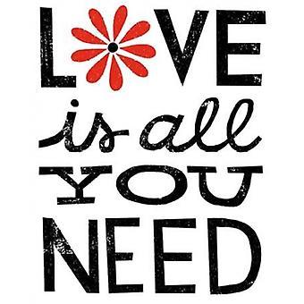 Inspiration Liebe II rote Blumen Poster Kunstdruck von Michael Mullan