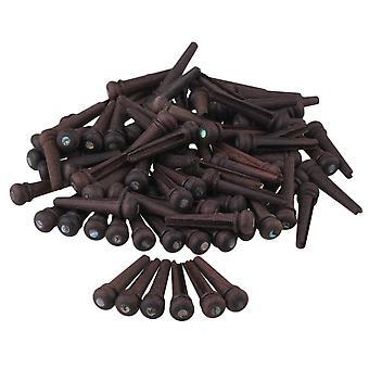 60 peças black folk acústico guitarra rosewood bridge end pin com shell dot