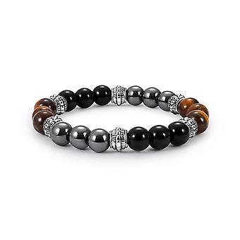 Vintage Tiger-eye Men's Beaded Bracelet Natural Stone Beads Buddha Bracelets