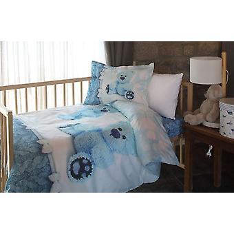 Conjunto de capa de edredom de bebê de flanela, tecido para o inverno, capa de travesseiro de folhas de recém-nascidos