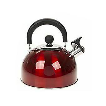 Summit 2.0L Whistling Kettle with Colour Coating Kitchenware Camping - 1 Unit Red Kettle