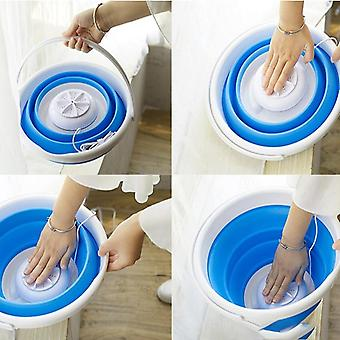 Mini Portable Ultrasonic Turbine Washing Machine Foldable Bucket Type Usb