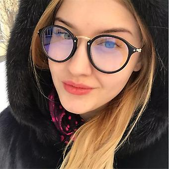 Glasses Frame Computer Spectacles Round Transparent Female Women's Eyeglasses