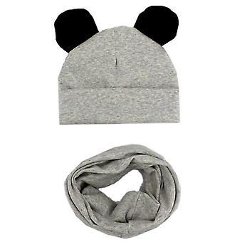 Children Hat, Scarf Set, Baby Cute Ears Caps, Beanies, Cotton, Collar Props