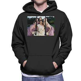 Bridesmaids Bridal Party Wedding Photo Men's Hooded Sweatshirt