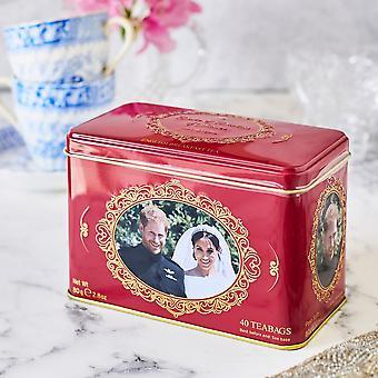 Harry & meghan tea tin with 40 english breakfast teabags