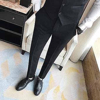 Men's Slim-fit Business Dress Suit Formal Pants