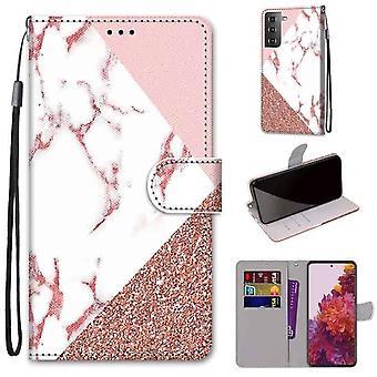 FONU Boekmodel Hoesje Samsung Galaxy S21 - Marmer