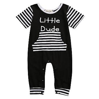 Baby Boy Romper Little Dude Cotton Jumpsuit