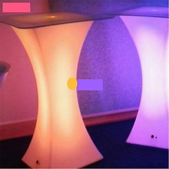 1 sarja 45 * 45 * 110cm Led Bar Table No Glass Only Table Hinta (satunnainen väri)