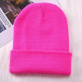 New Beanies Knitted Solid Cute Warmer Bonnet Casual Cap/woman