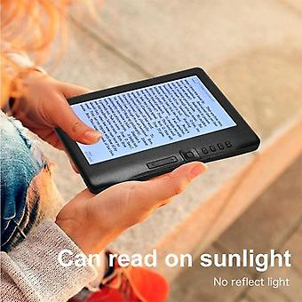 Portable 7 inch 800 x 480p e-reader color sn glare-free built-in 4gb memory storage backlight battery support photo viewing/