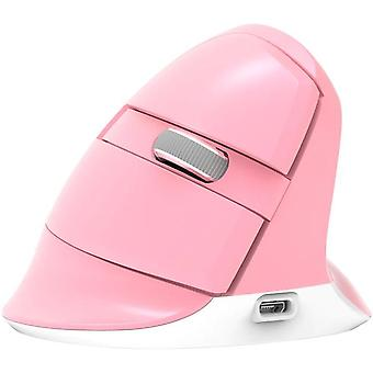 Wireless Game Mouse Vertical Ergonomic Mice(pink)