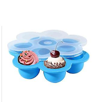7-hole Silicone Food Supplement Box, Silicone Ice Tray, Sealed Crisper, Baby Steamed Egg Box