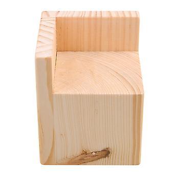 Træ Møbler Opbevaring Riser Bed Løftere 7x7CM Feet 8CM Lift Højde