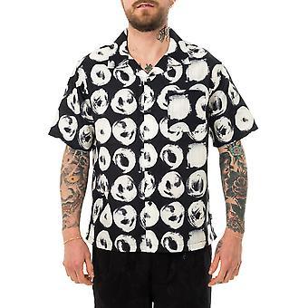 Men's shirt stussy hand drawn dot shirt black 1110158.black