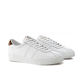 Superga 2843 Club S Leopard Leather Trainers