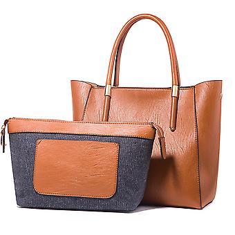 Fashion rygsæk kvindelige taske casual skole taske dame håndtaske multi-stykke sæt