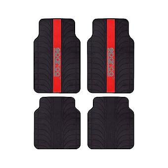 Auton lattiamattosarja Sparco SPC1913RS Universal Black/Red (4 kpl)