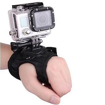 360 graders rotation handled handrem bandhållare Fäste för kamerafotografering tillbehör