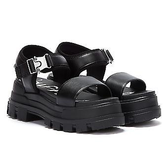 Buffalo Jojo Womens Black Sandals