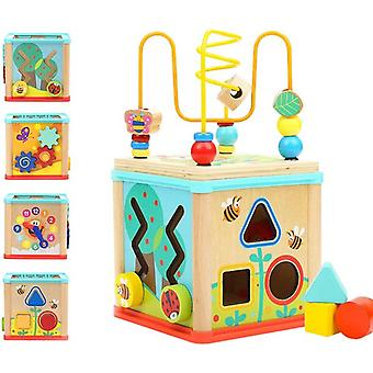 Activity Cube Toys For 1 Year Old Boy Girl, Wooden Toys Montessori For Toddlers
